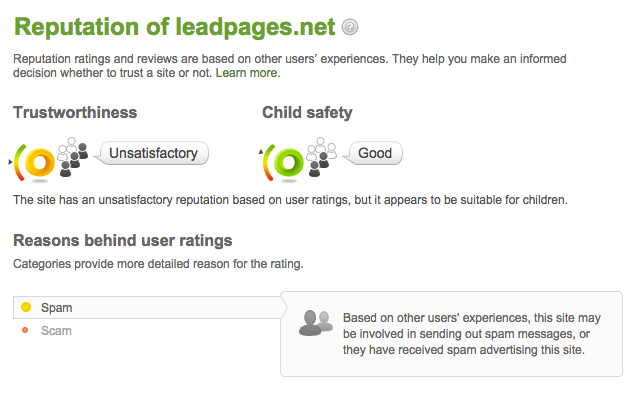 LeadPages WOT