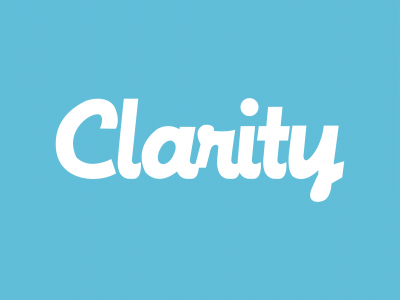 Clarity - Flat Icon_Logo - BlueBG